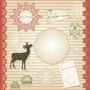 Stock Illustration of vector christmas scrapbook