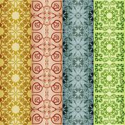 Stock Illustration of vector retro seamless patterns