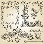 Stock Illustration of vector vintage design elements