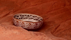 indian pottery native american archeology 10 - stock footage