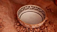 indian pottery native american archeology 7 - stock footage