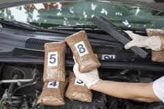 Drug smuggling Stock Photos