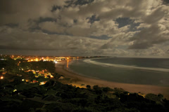 Time lapse over ponte do Ouro Bay Stock Footage