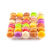 Traditional french colorful macarons in a box Stock Photos