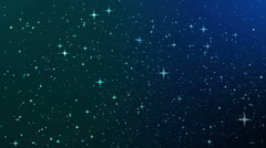 Night sky with star, Full HD loop Stock Footage