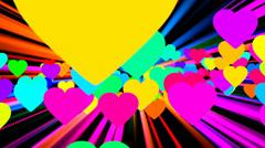 Psychedelic hearts vj loop 1 Stock Footage