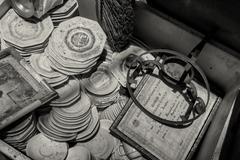 Memoribilia in junk yard Stock Photos