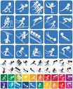 Stock Illustration of Winter Sports Symbols