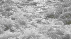 Wash wake of a boat in the sea Stock Footage