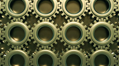 HD Synchronized team - Gears background - stock footage