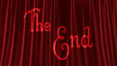 The End. Stock Footage