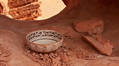 indian pottery native american archeology 8 - stock footage