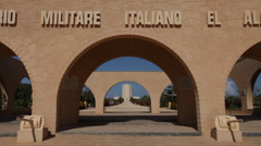 El Alamein Italian war memorial, Egypt Stock Footage