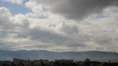Stock Video Footage of Haifa, Carmel mountain, Israel time lapse