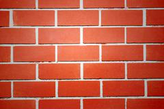 red brick walls of the home and light middle. - stock photo