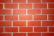 Stock Photo of red brick walls of the home and light middle.