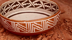 indian pottery native american archeology 13 - stock footage