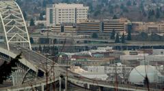 Portland Oregon Downtown Traffic Time Lapse Stock Footage