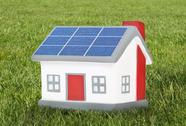 Stock Illustration of house model plastic with solar panels
