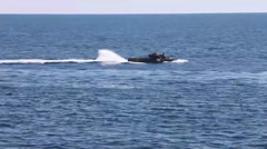 Amphibious assault vehicles take part in Composite Training Unit Exercise Stock Footage