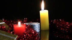 Candle and Giftbox Stock Footage