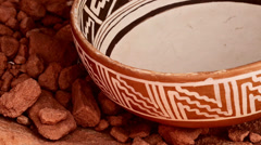 indian pottery native american archeology 15 - stock footage