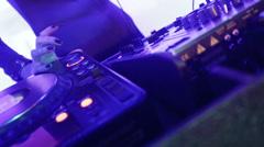 DJ mixer Stock Footage