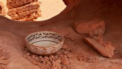 Indian pottery native american archeology 9 Stock Footage