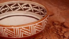 indian pottery native american archeology 14 - stock footage