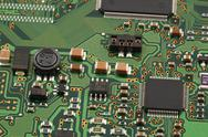 Stock Photo of computer micro circuit board