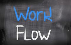 work flow concept - stock illustration