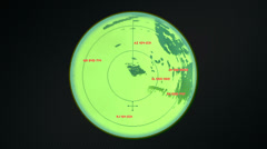 Radar scope with targets scanning Stock Footage