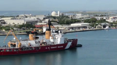 Coast Guard icebreaker visits Honolulu Stock Footage