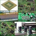 Stock Photo of collage of micro circuit board