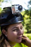 Zipline safety helmets Stock Photos