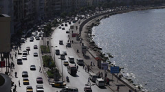 Traffic in Alexandria, Egypt - stock footage