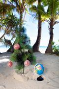 tropic new year, celebration on vacation. - stock photo