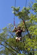 Zipline through forest in brazil Stock Photos