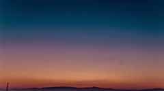Arabian Negev Desert Sunrise above Galilee mountains, Israel Stock Footage