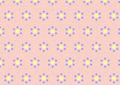 circle clasper pattern on pastel color - stock illustration