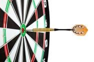Stock Photo of bulls eye target with dart