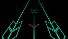 Neon Arrows animated background Stock Footage