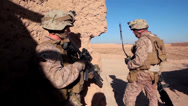 Stock Video Footage of Marines on patrol in Afghanistan