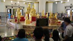 Wat So Thon, Big Golden Buddha Stock Footage