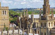 Stock Photo of view of roofs and spires of oxford