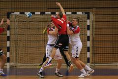handball assist - stock photo