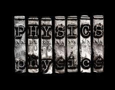 Physics word Stock Photos