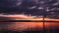 Nanaimo Harbor Sunrise Stock Footage