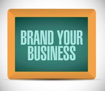Brand your business illustration design Stock Illustration