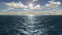 Flight Over The Ocean, 4K Stock Footage
